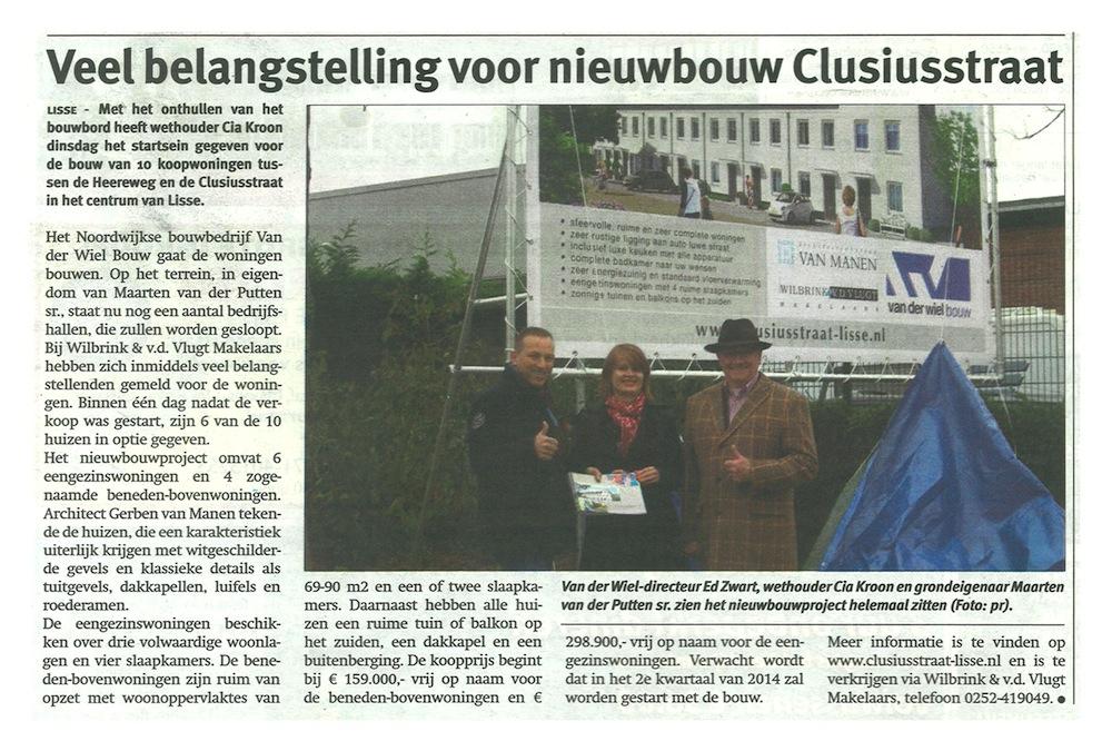 Nieuwbouw Clusiusstraat Lisse