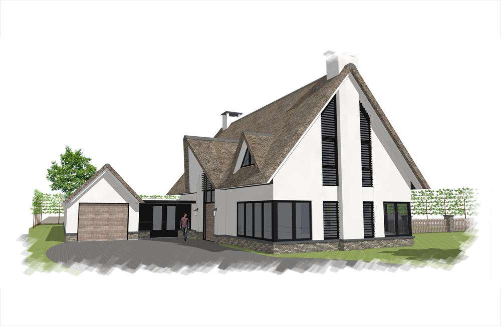 Bouwproject in Rijnsburg van Van der Wiel Bouw