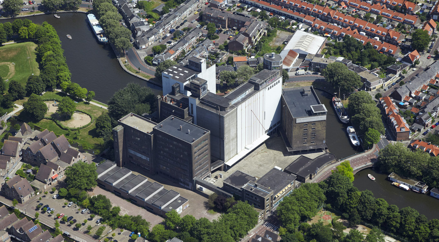 Lucht foto De Meelfabriek in Leiden
